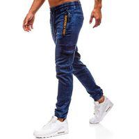 Spodnie jeansowe joggery męskie granatowe Denley Y268B, jeansy
