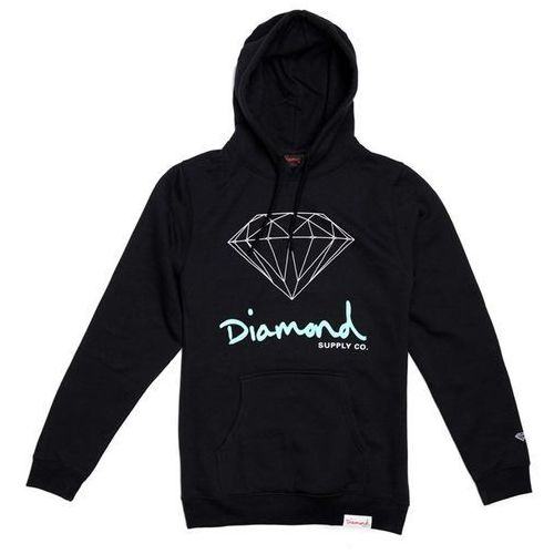 Bluza - og sign hoodie - core black (blk) rozmiar: l marki Diamond