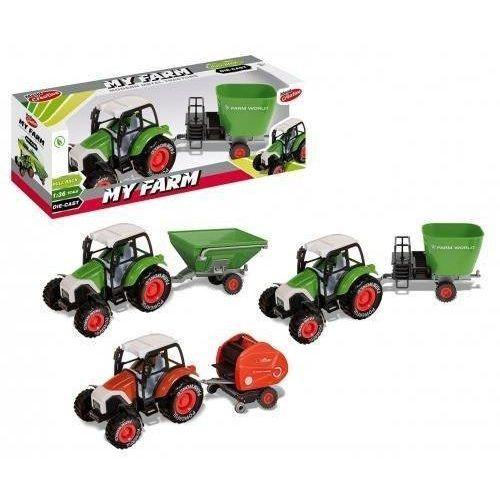 Traktor metalowy moje ranczo 30cm (5902643684768)