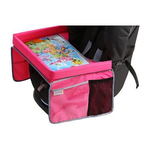 TULOKO Bezpieczny stolik podróżnika z mapą Europy, różowy (5903111233242)