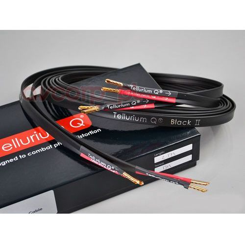 black ii speaker cable - single wire - banany marki Tellurium q