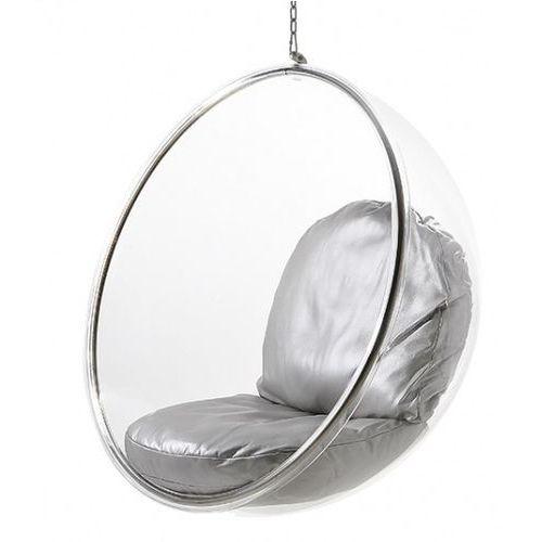Fotel Bańska insp. BUBBLE srebrna poduszka D2, kolor szary