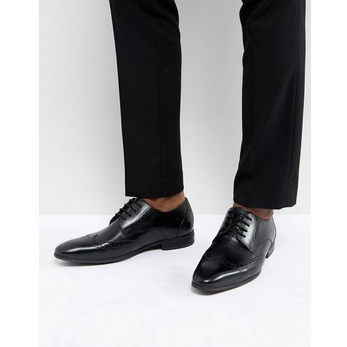 leather brogues in black - black marki Pier one