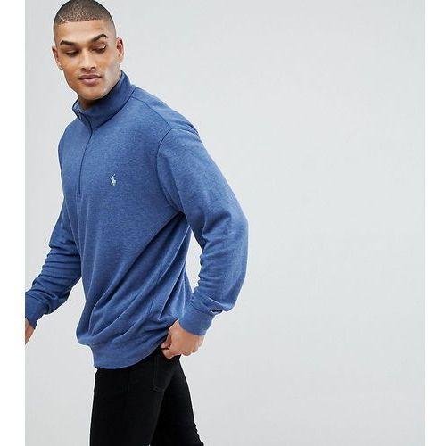 Polo Ralph Lauren Big & Tall Half Zip Sweatshirt in Navy - Navy