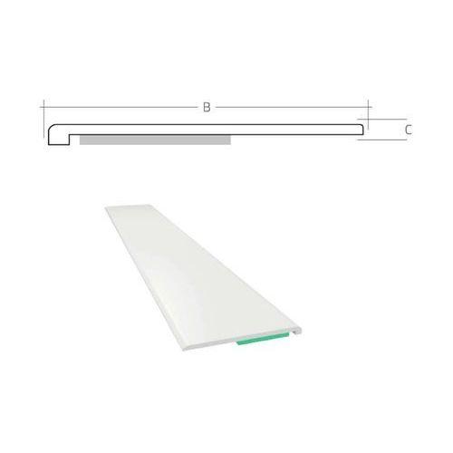 Listwa maskująca płaska samoprzylepna PCV B=40 mm gr. C=1,5 mm biała bez uszczelki L=50 mb
