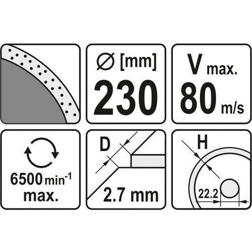 Yato Tarcza diamentowa, segment ciągły, 230 mm yt-6015 - zyskaj rabat 30 zł