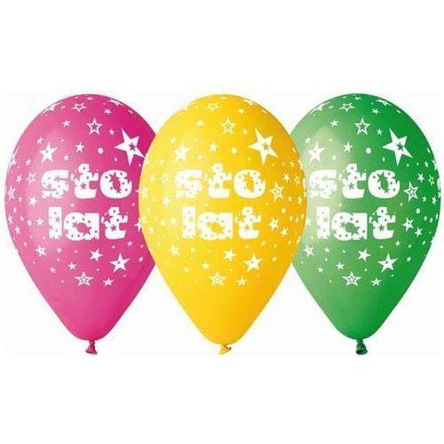 Gemar balloons Balony premium sto lat 5 sztuk