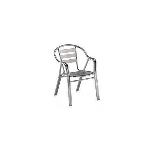 Resol Krzesło edge z podłokietnikami aluminium