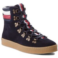 Kozaki TOMMY HILFIGER - Crepe Outsole Hiking Hybrid Boot FM0FM01918 Midnight 403, w 7 rozmiarach