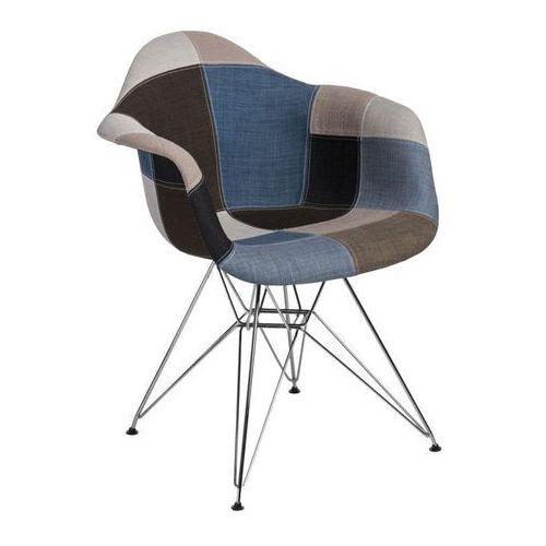 Krzesło P018 Patchwork inspirowane DAR - niebieski ||szary, d2-5060