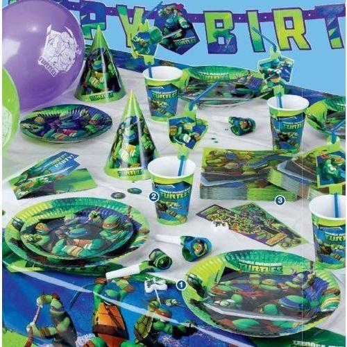 Amscan Zestaw urodzinowy wojownicze żółwie ninja - 37 elem.
