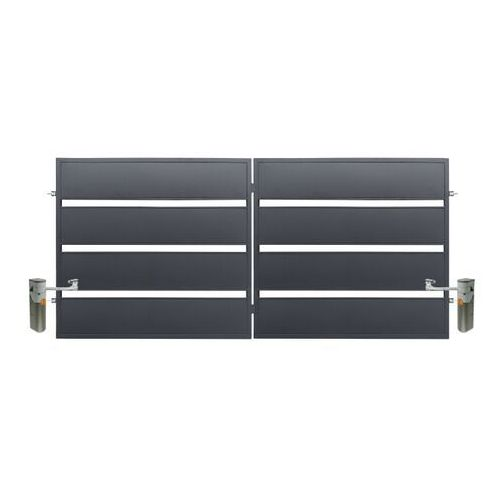 Polbram steel group Brama z automatem leda 350 x 158 cm ocynk antracyt (5901122311089)