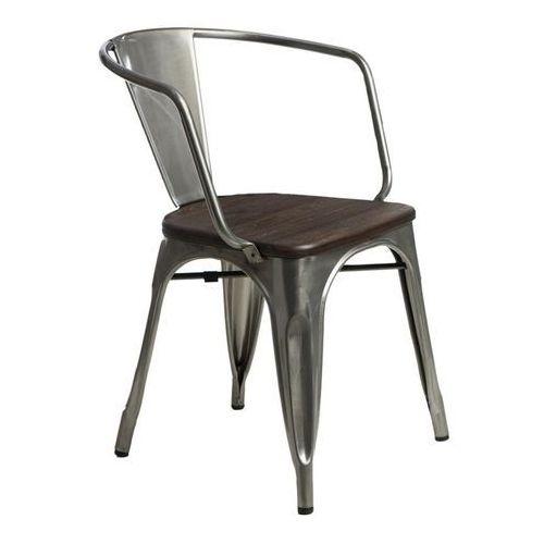D2design Krzesło paris arms wood metal sosna szcz otkowana (5902385726092)