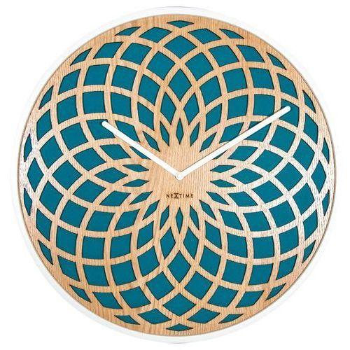 - zegar ścienny sun large - turkusowy marki Nextime
