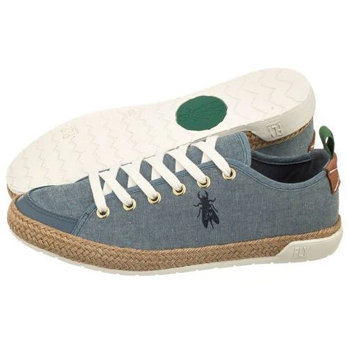 Fly london Tenisówki emil canvas sky blue (cord) p143962002 (fl235-b)
