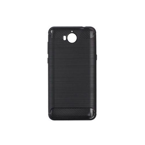 Huawei Y6 (2017) - etui na telefon Forcell Carbon - czarny, kolor czarny