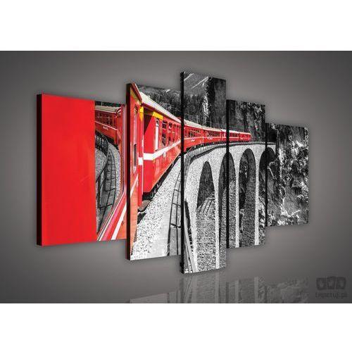 Obraz Czerwony pociąg na czarno-białym tle PS618S4A