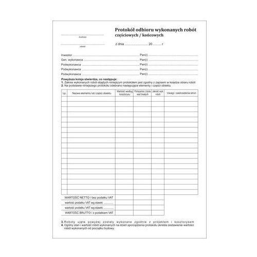 Protokół odbioru wykonanych robót [Pu/Pb-34], 47423