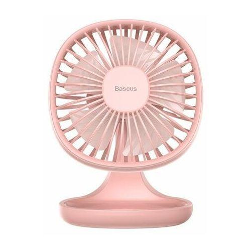 Baseus Pudding-Shaped Fan / Wiatrak biurkowy wentylator na USB różowy EOL (6953156290952)