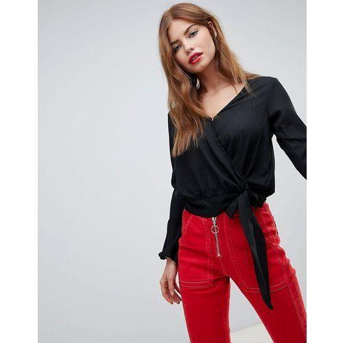 sweet wrap front blouse - black marki Brave soul