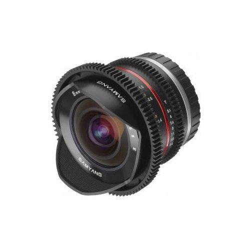 SAMYANG 8 mm T3.1 FISH-EYE VDSLR czarny obiektyw mocowanie Fuji X, 12733