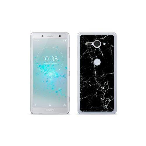 etuo Fantastic Case - Sony Xperia XZ2 Compact - etui na telefon Fantastic Case - czarny marmur, kolor czarny