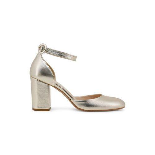 Metaliczne sandały damskie na słupku MADE IN ITALIA - INSIEME-75