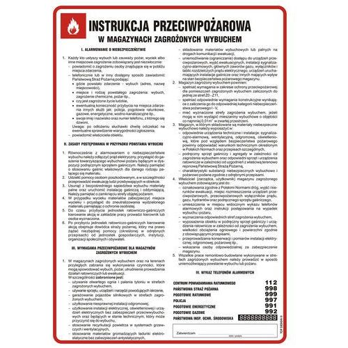 Instrukcja przeciwpożarowa w magazynach zagrożonych wybuchem marki Top design