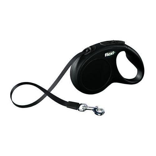 Flexi smycz automatyczna new classic s taśma - 5m - do 15kg kolor: czarny