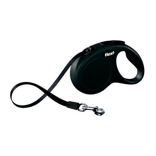 FLEXI Smycz automatyczna NEW CLASSIC XS taśma - 3m - do 12kg kolor: czarny