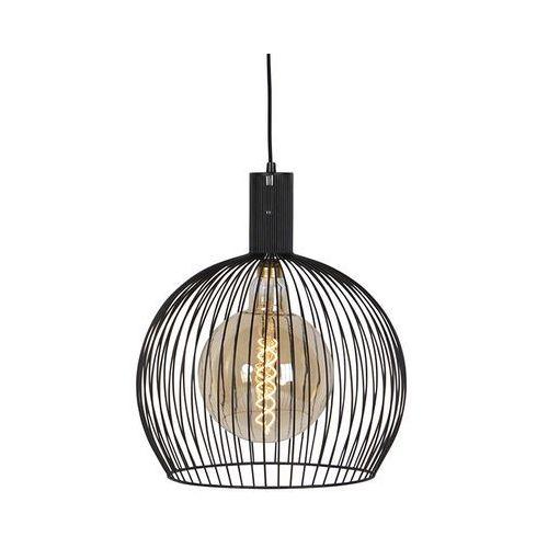 Nowoczesna okrągła lampa wisząca czarna 40 cm - Wire