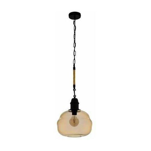 Eglo Marysville 43335 lampa wisząca zwis 1x40W E27 czarna/bursztynowa (9002759433352)