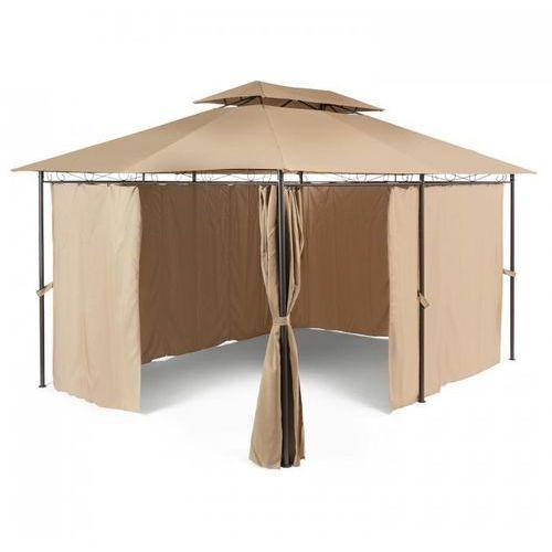 Blumfeldt Grandezza Pawilon ogrodowy Namiot imprezowy 3x4m Stal Poliester brązowy (4260435917960)