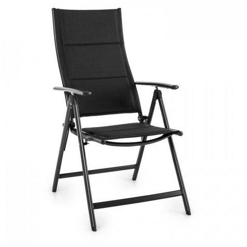 Blumfeldt Stylo Royal Black Krzesło ogrodowe składane aluminiowe czarne