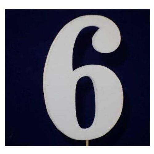 Cyfra drewniana na piku - nr 6 - 1 szt. marki Kal