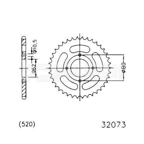 Jt sprockets Zębatka tylna stalowa jt 50-32073-53, 53z, rozmiar 520 2301242 sachs roadster 125