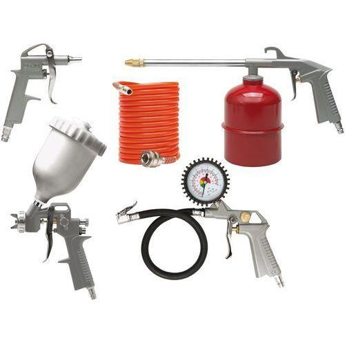 Zestaw lakierniczy, pistolet ze zbiornikiem górnym, kpl. 5szt. 81638 - zyskaj rabat 30 zł marki Vorel