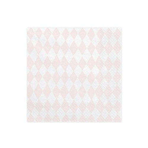 Serwetki różowe romby - Jednorożec - 33 cm - 20 szt., #A194^yf