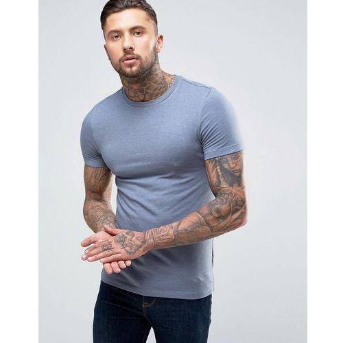 muscle fit crew neck t-shirt in blue - blue, Asos, XXS-XL