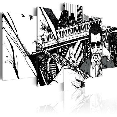Obraz - Koncert jazzowy na tle nowojorskich wieżowców - 5 częsci