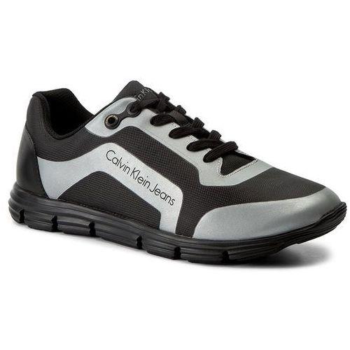 Calvin klein Sneakersy jeans - morris s0502 black/silver