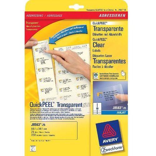 Etykiety adresowe avery 99,1 x 38,1 mm (do kopert dl) do drukarek atramentowych - x06581 marki Avery zwecform