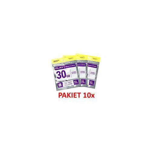 10x starter Play Online LTE 19zł, kup u jednego z partnerów