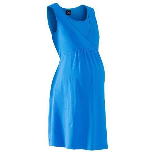 Sukienka ciążowa i do karmienia, z dżerseju  niebieski morski marki Bonprix
