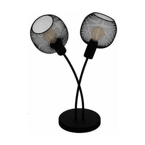 Eglo wrington 1 43376 lampa stojąca podłogowa 2x40w e14 czarna/szara
