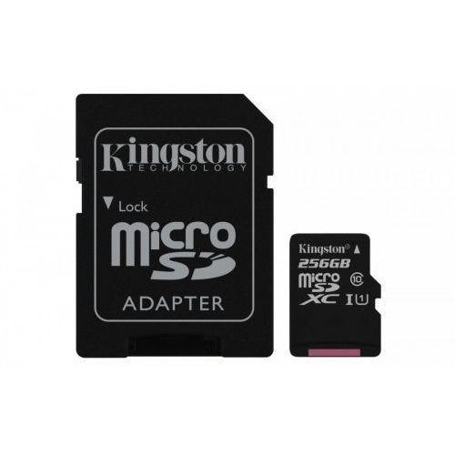 Karta pamięci Kingston microSDXC Canvas Select 256GB UHS-I Class 10 + adapter, 1_625054