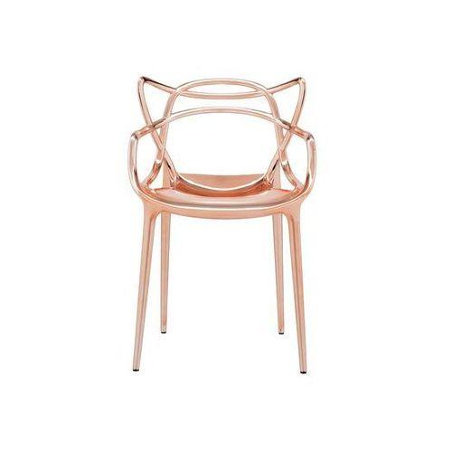 Krzesło masters metalizowane miedziane marki Kartell