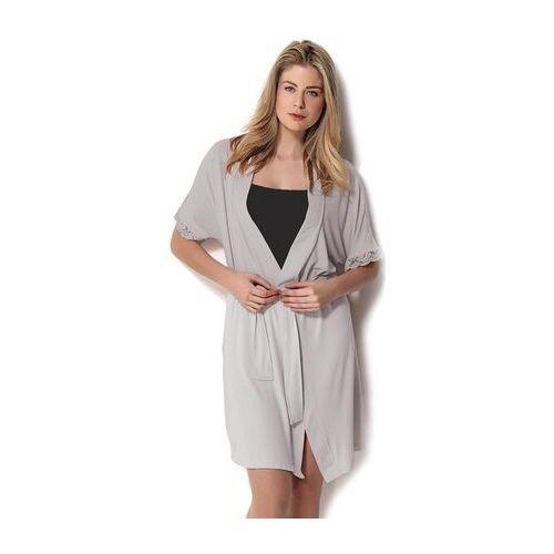 51f4ffc0767731 Damska bambusowa piżama dante ze szlafrokiem m czarny / srebrny, Luisa  moretti