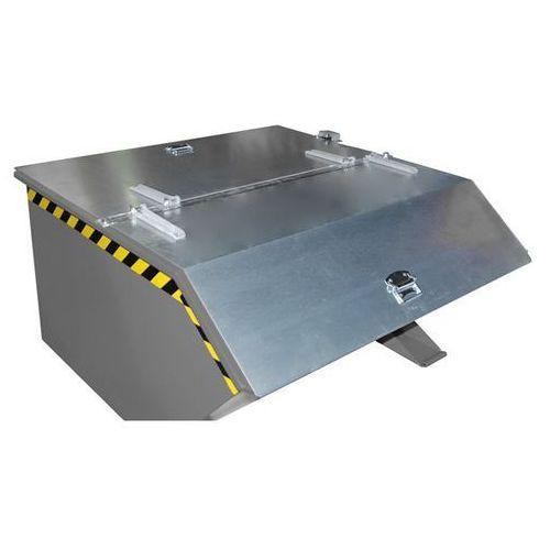 Pokrywa składana, do poj. pojemnika 1,0 m³, ocynkowanie. 2-częściowa. możliwość marki Bauer