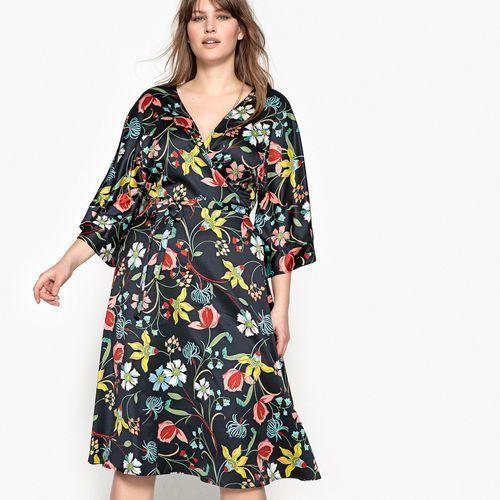 Półdługa rozszerzana sukienka w kwiatowy wzór marki Castaluna